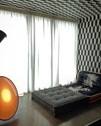 Cole & Son Tapeten und Seidenvorhänge für ein Penthouse in München