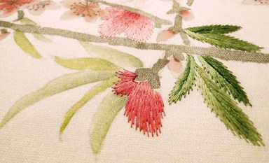 Misha Wallpaper Embroidery - Hoyer & Kast Interiors