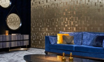 Arte Walls Metalltapete gold Quadra