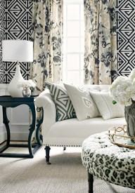 Wohnzimmer mit geometrischen Details - Thibaut