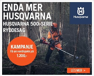 Kjøp Husqvarna motorsag – Få med verdisjekk