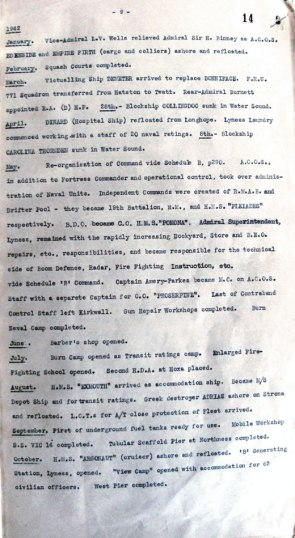ADM116/5790 Hoy WWII Chronology doc - page 9