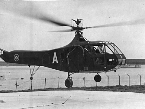Sikorsky R-4B Hoverfly at Rinnigill in 1945 © The National Archives, ref. ADM116/5790