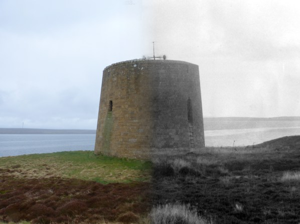 WWII Hoy Then & Now - Crockness Martello Tower
