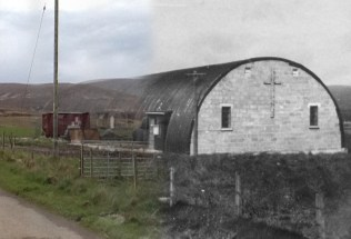 WWII Hoy Then & Now - St Thomas More Roman Catholic Church, Lyness