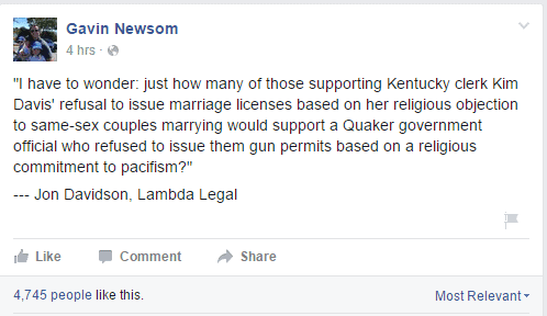 Kim Davis and the Law - Gavin Newsom's Amazing lack of self awareness.