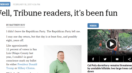 Final Tribune Column