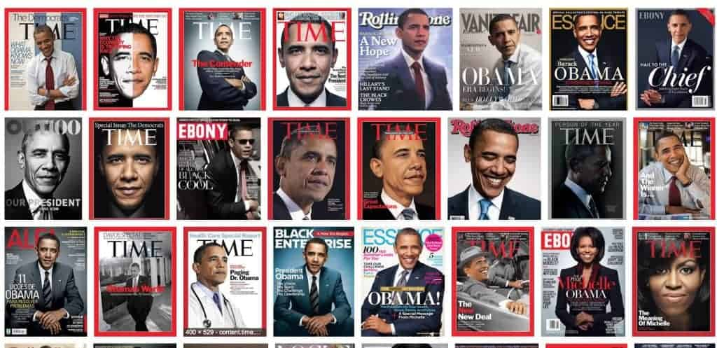 media credibility - Obama magazine covers