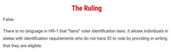 Voter ID Fact-Checking
