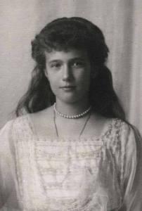 La niña Anastasia Romanóva