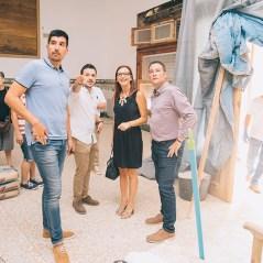 Maria Josep Amigó ha visitat la Casa de la Mutua acompanyada de l'alcalde de Xiva, Emili Morales