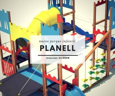 Nuevo Parque Infantil en el Planell