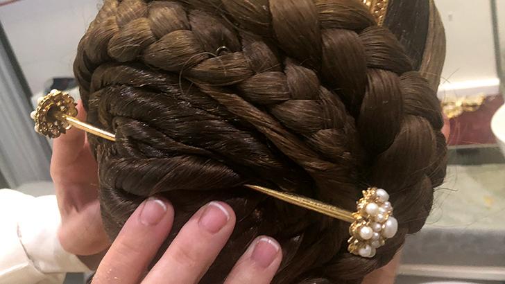 El peinado de Valenciana, parte de la fiesta