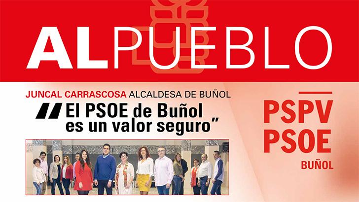 El PSOE de Buñol recupera el Al Pueblo, a las puertas de las elecciones generales y autonómicas