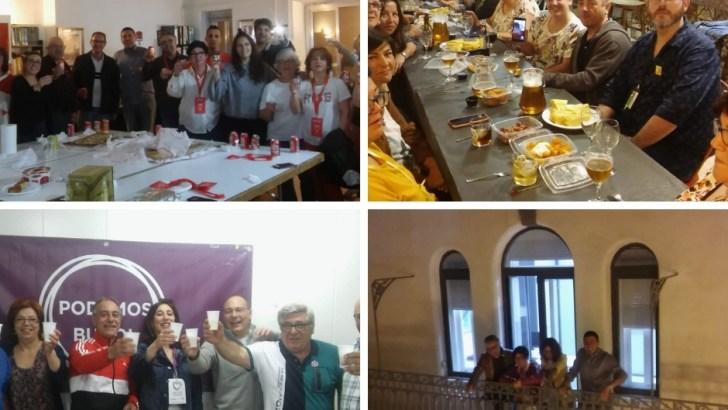Las imágenes de la noche electoral en Buñol