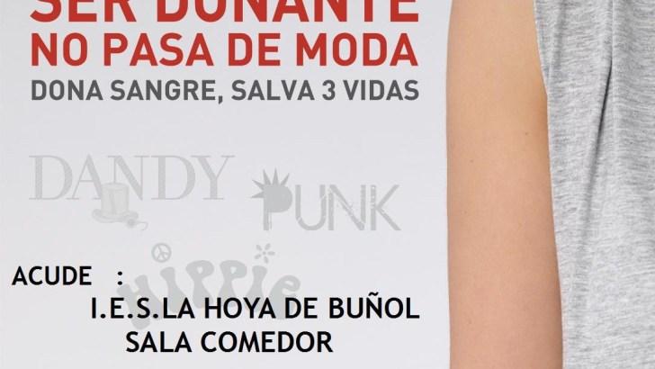El IES La Hoya de Buñol acoge una donación de sangre el 30 de mayo