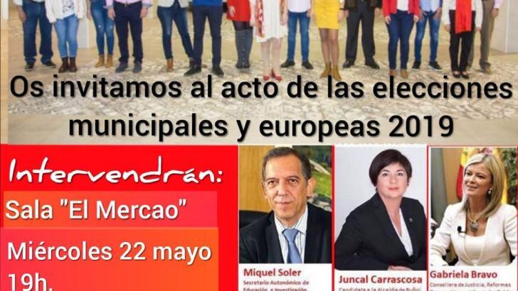 El PSOE de Buñol celebra su mitin central de campaña este miércoles