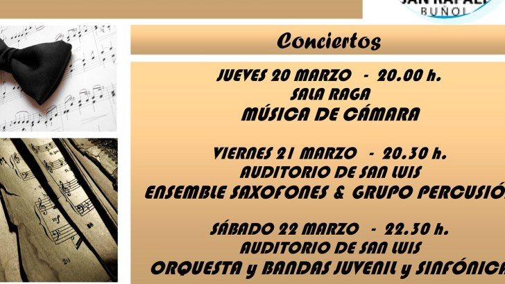 El Conservatorio de Buñol ofrecerá sus audiciones de final de curso del 17 al 22 de junio