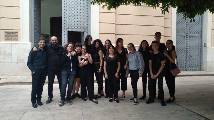 El Coro del Conservatorio de Buñol actúa en la Iglesia Nuestra Señora del Carmen de Valencia