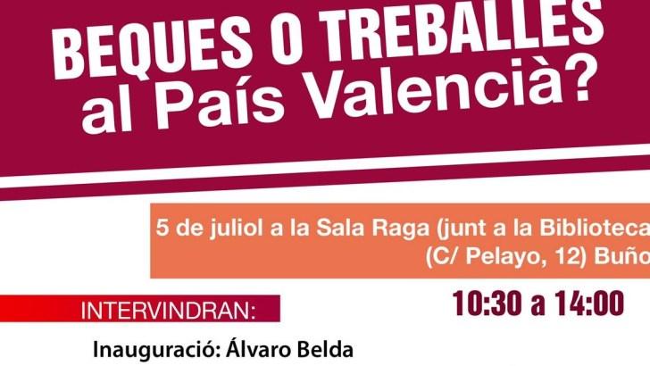 CCOO organiza en Buñol una jornada contra las irregularidades en becas y prácticas