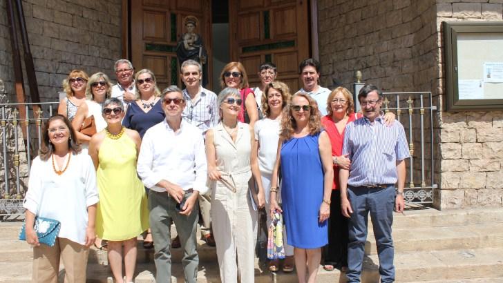 Las imágenes de la visita del patrón de Buñol, San Luis Bertrán, a Las Ventas