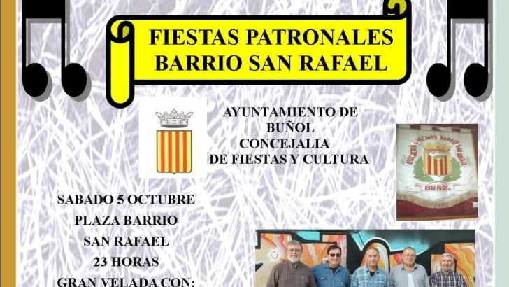 El Barrio San Rafael de Buñol celebra sus fiestas patronales el próximo 4 de octubre