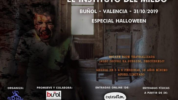 Buñol suspende la Escape Room «Asylum» y programa otra bajo el título «El instituto del miedo»