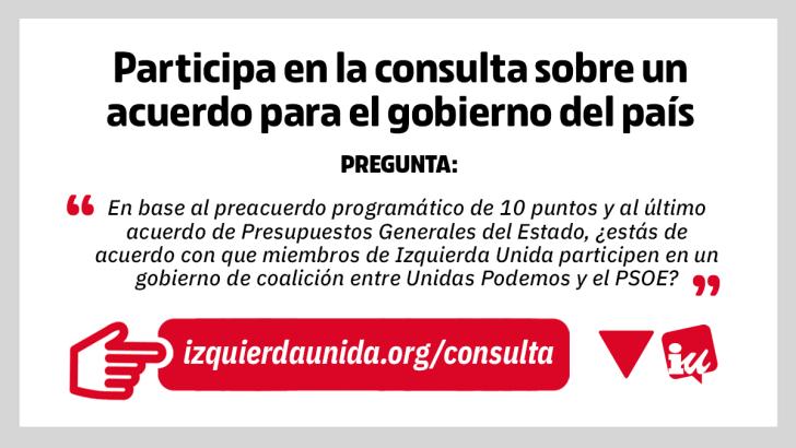 EUPV de Buñol y La Hoya consultará a sus afiliados sobre el acuerdo de Gobierno entre el PSOE y Unidas Podemos