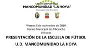 Alborache acoge este viernes la presentación de la UD Mancomunidad La Hoya