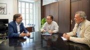 El diputado de Patrimonio, Andreu Salom, recibe a alcalde de Yátova