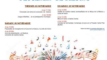 Alborache inicia este fin de semana los actos en honor a Santa Cecilia