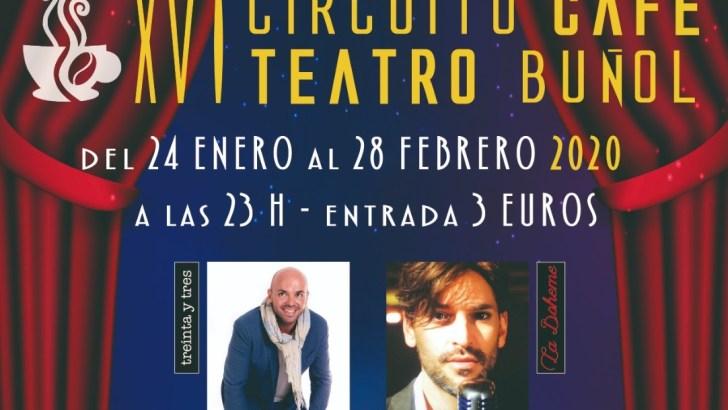 El XVI Circuito Café Teatro de Buñol llega este viernes a Buñol