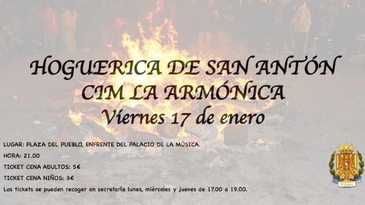 «La Armónica» de Buñol celebra San Antón este viernes con la tradicional «hoguerica»