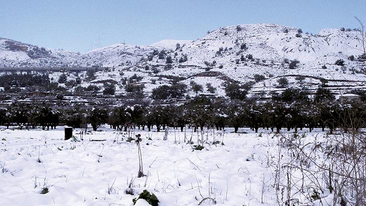 El temporal podría dejar nevadas en los puntos más altos de La Hoya de Buñol