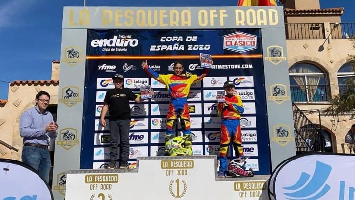 Vin Galarza logra la primera victoria en Campeonato de España de Enduro Infantil