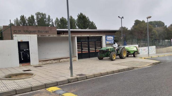 Alborache desinfecta sus calles y urbanizaciones ante el COVID-19