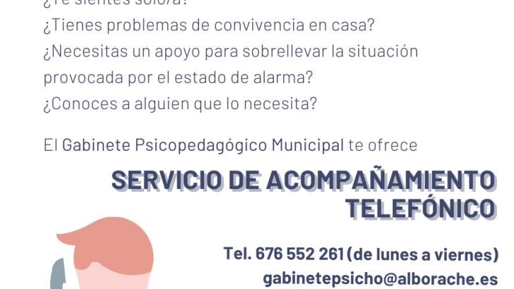 El Ayuntamiento de Alborache activa un servicio de acompañamiento telefónico