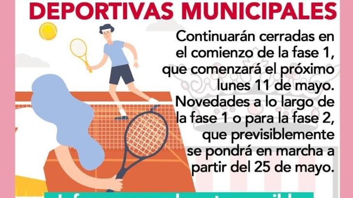 Las instalaciones deportivas municipales de Buñol continuarán cerradas tras el comienzo de la fase 1 de la desescalada
