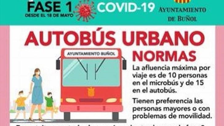 El Ayuntamiento de Buñol informa de los horarios del autobús urbano