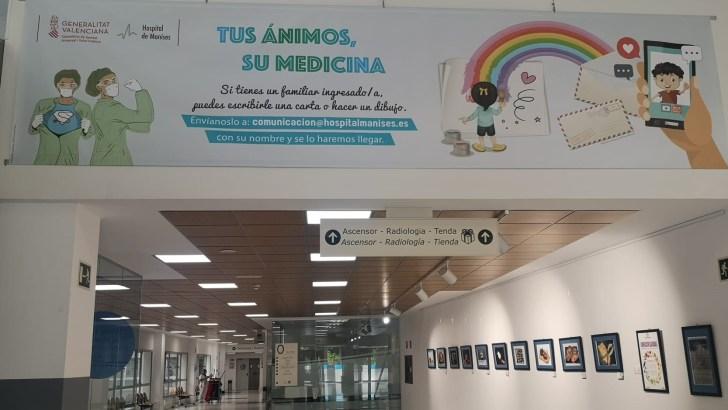 El Hospital de Manises recibe más de 1.000 dibujos y cartas de ánimo a pacientes y sanitarios