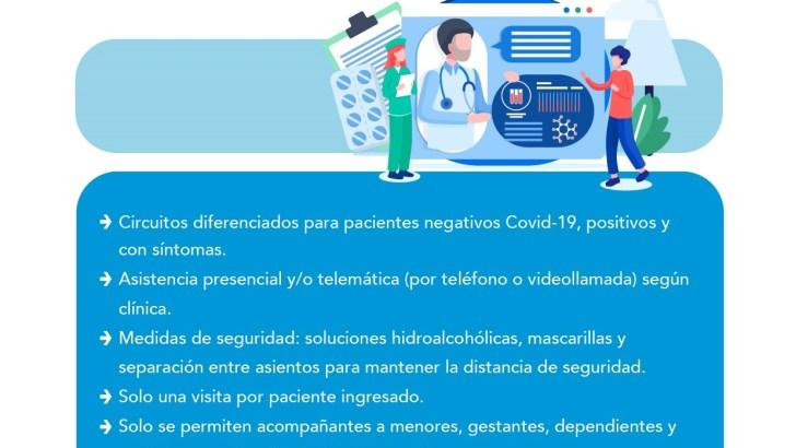 Manises recomienda a los pacientes ponerse en contacto con su centro correspondiente antes de acudir