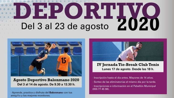 """La Concejalía de Deportes de Buñol organiza un """"Verano Deportivo"""" durante el mes de agosto"""