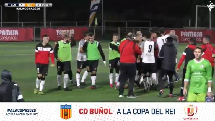 El CD Buñol se mete en la Copa del Rey tras deshacerse del Benicarló (1-0)