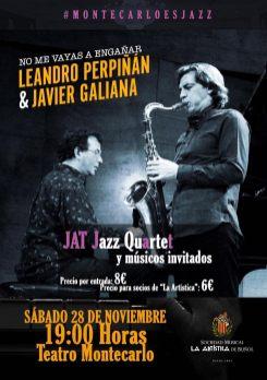 Cartel Concierto Montecarlo es Jazz