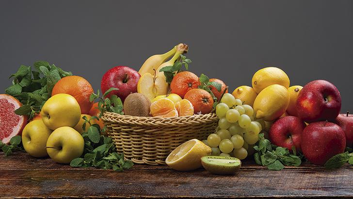 Fruta en una alimentación saludable