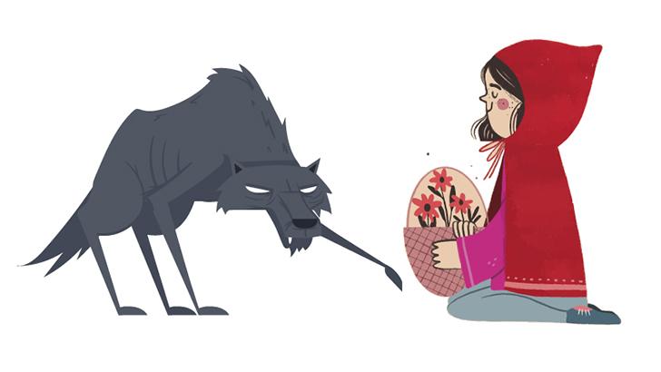 Caperucita  y los lobos