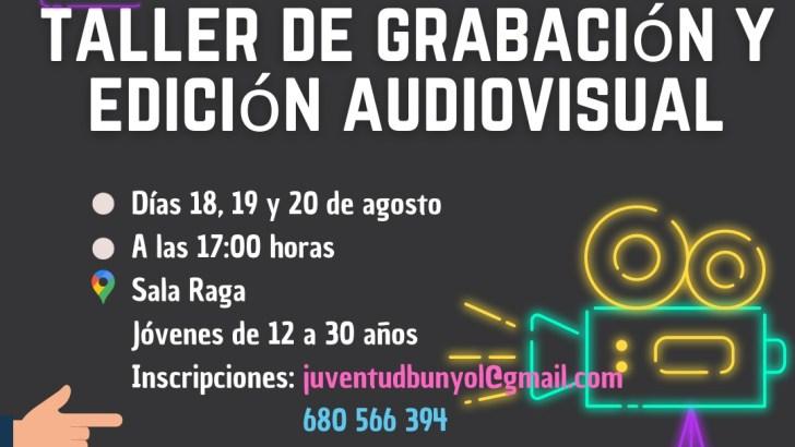 El Ayuntamiento de Buñol organiza un nuevo taller de grabación y edición audiovisual para jóvenes