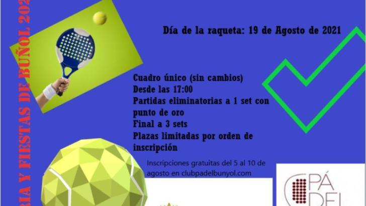 Los deportes de Raqueta protagonizan un día en esta Feria y Fiestas atípica este jueves en Buñol