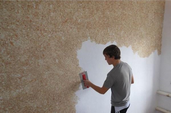 Как снять жидкие обои со стен в домашних условиях ...