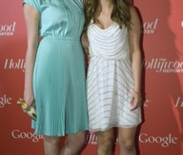 Nasim Pedrad Kate Upton At Google Hollywood Reporter Event In